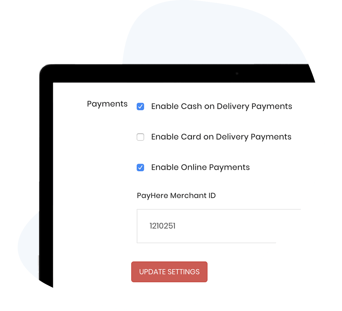 In-built payment integration by ShopHere and PayHere